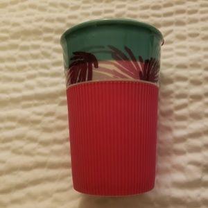 Starbucks ceramic mug w/pink silicone